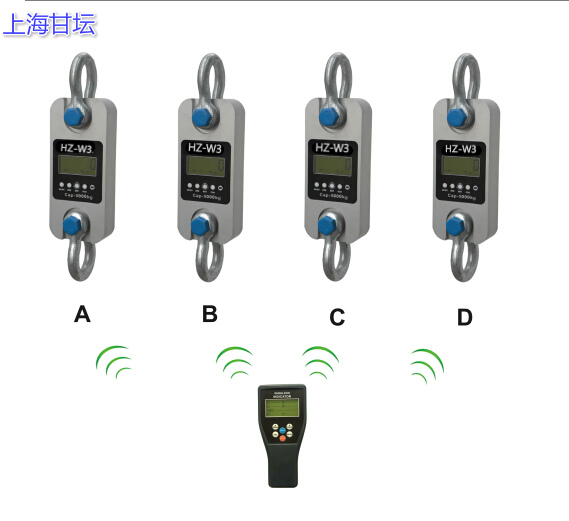 携带式拉力计HZ-W3-5t 多个测试数据一个仪表显示