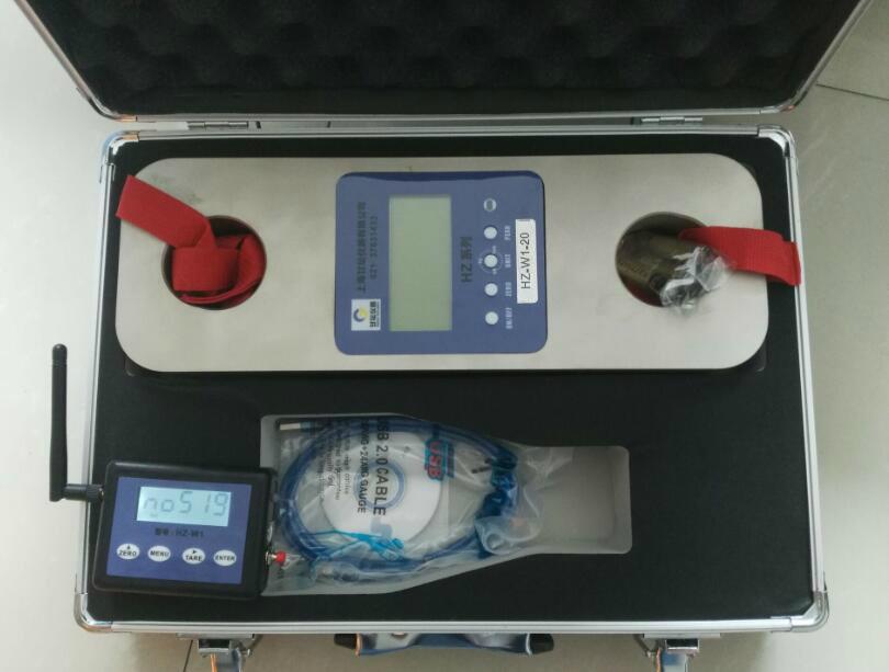 供应全套的20吨拉力测试仪器_铁丝紧力用200KN测力计